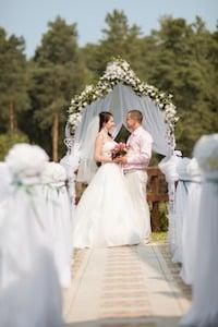 Hochzeit im Freien, Trauung im Freien